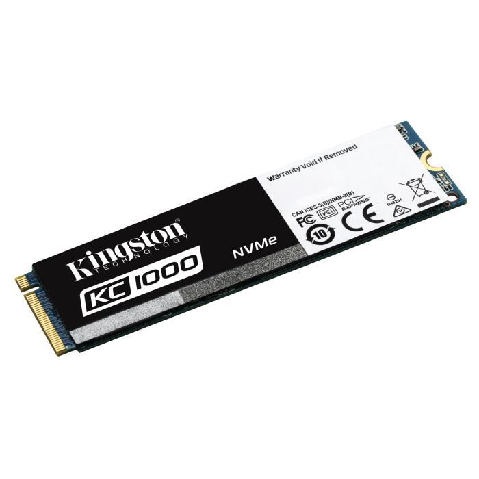 SSD Kingston KC1000 240 Go - NVMe - format M.2 (2280) - SKC1000/240G