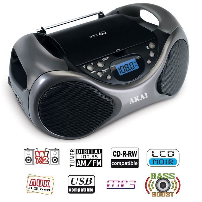 akai ab 40k scorpio lecteur cd portable usb mp3 radio cd. Black Bedroom Furniture Sets. Home Design Ideas