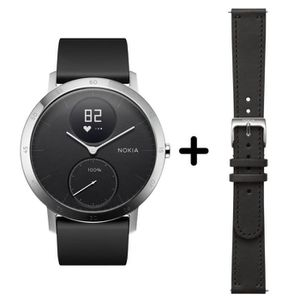 MONTRE CONNECTÉE NOKIA - Montre Steel HR 40mm N + Bracelet cuir noi