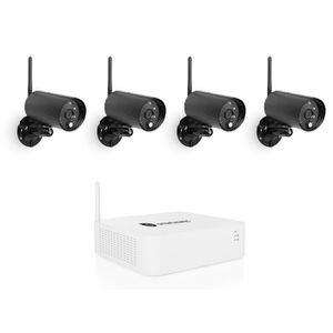 CAMÉRA DE SURVEILLANCE SMARTWARES Kit de surveillance sans fil avec 4 cam