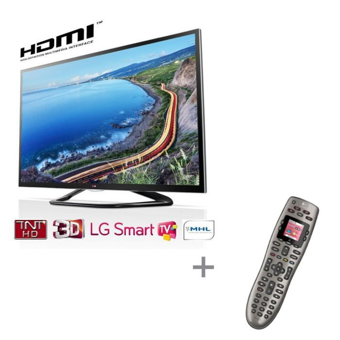 lg42la640s smart tv 107 cm logitech harmony 650. Black Bedroom Furniture Sets. Home Design Ideas