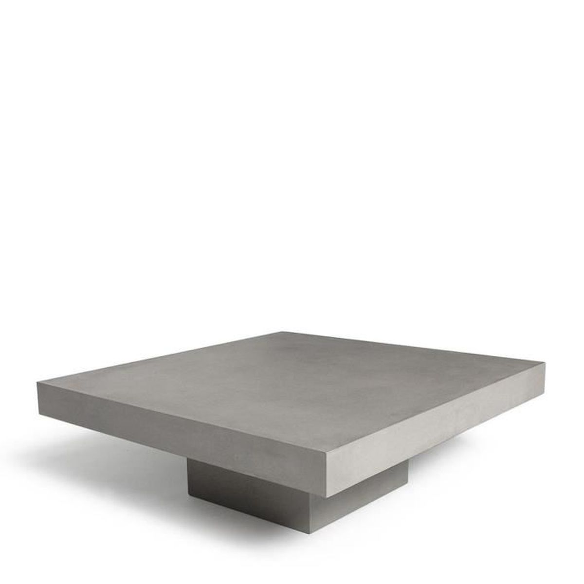 table basse carr e b ton t square couleur gris b ton achat vente table basse table basse. Black Bedroom Furniture Sets. Home Design Ideas