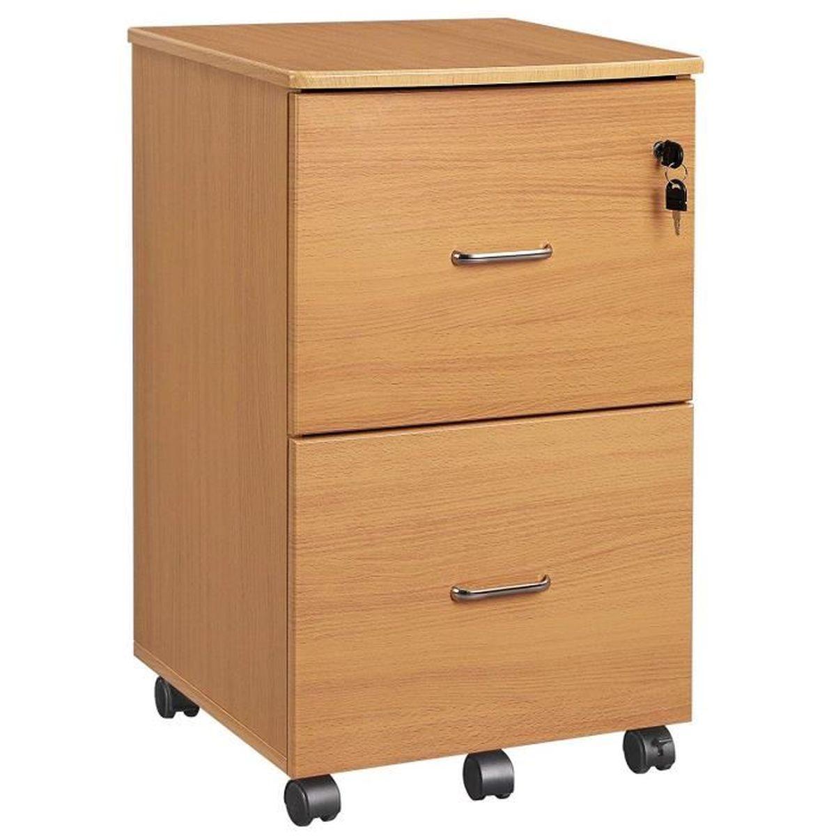 Caisson Pour Seche Linge vasagle caisson de bureau mobile,2 tiroirs,système de