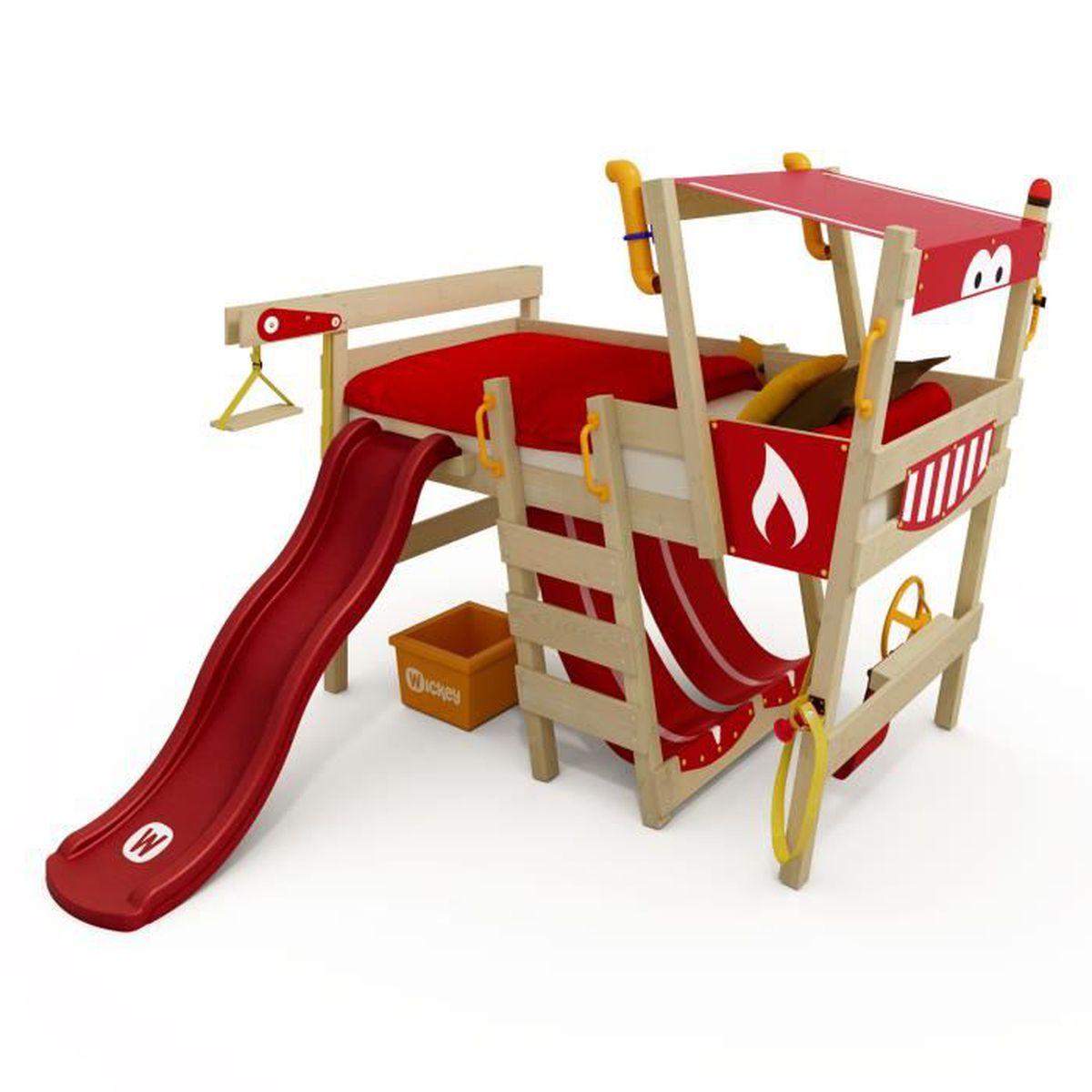 Lit Mezzanine 3 Ans wickey lit pour enfant en bois crazy smoky lit mezzanine