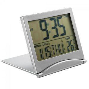 DEL 7 Couleur LCD Digital Réveil Thermomètre Calendrier Snooze Température