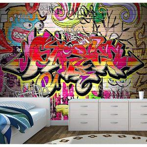 PAPIER PEINT graffiti urban art mur papier peint  papier peint