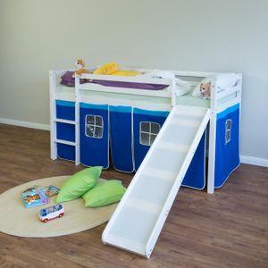 LIT MEZZANINE Lit mezzanine enfant 90 x 200 cm bleu