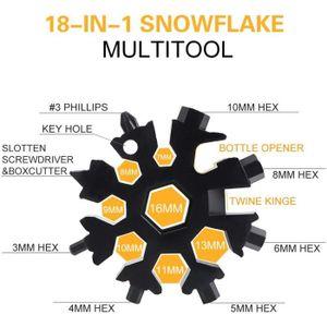 Cadeau Noel Homme SunAurora Outil Flocon Neige Multifonction,Mini Multi-Outil Portable en Acier Inoxydable