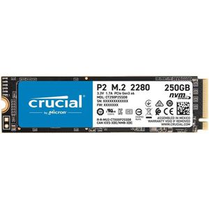 DISQUE DUR SSD CRUCIAL® P2 SSD 250 Go 3D NAND NVMe™ PCIe® M.2 228