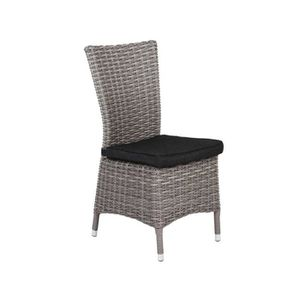 chaise resine tressee gris achat vente chaise resine tressee gris pas cher cdiscount. Black Bedroom Furniture Sets. Home Design Ideas