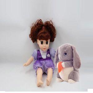 POUPÉE 30cm Poupée Little love Ma poupée  Avec Son Lapin
