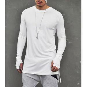 T-SHIRT Tee Shirt Homme Streetwear T Shirt Manche Longue