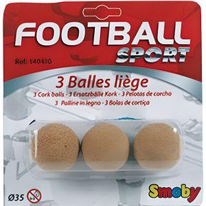 ACCESSOIRE BABY-FOOT SMOBY 3 Balles de Baby Foot en Liège - Jeu de plei