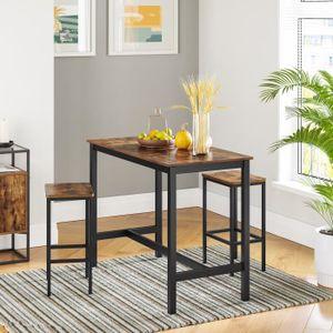 TABLE DE CUISINE  VASAGLE Lot Table et Chaises de Bar Table Haute av