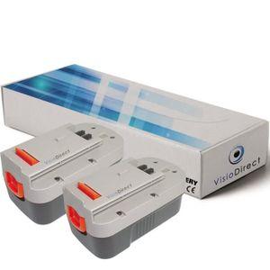 BATTERIE MACHINE OUTIL Lot de 2 batteries type BD1834L pour Black et deck