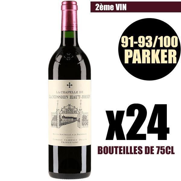 X24 La Chapelle de La Mission Haut-Brion 2016 75 cl AOC Pessac-Léognan 2ème Vin Vin Rouge