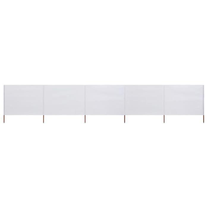 SHOP•6913Paravent extérieur rétractable Paravent Store vertical Auvent Latéral Jardin & Terrasse Brise-Vue 5 panneaux Tissu 600 x 12