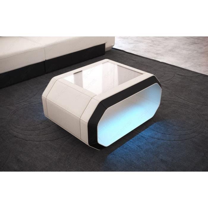 Sofa Dreams Café Table Rome Avec Moderne Éclairage LED