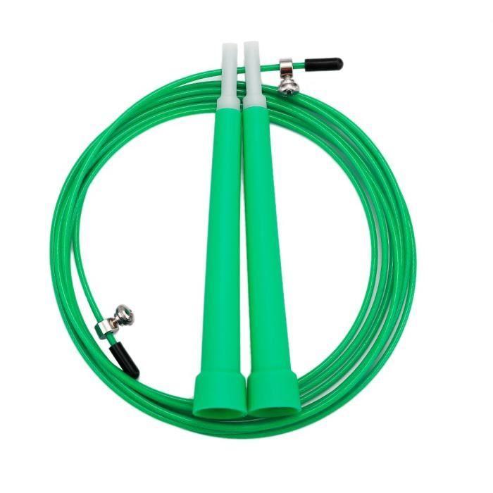Accessoires Fitness - Musculation,Corde à sauter réglable en Nylon corde à sauter vitesse corde à sauter Fitness - Type green