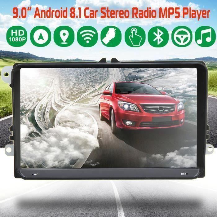 NEUFU 9 Pouce 1G+16G Auto Android 8.1 GPS Navigation bluetooth Vue Arrière Autoradio WIFI MP5 DVD Voiture Pour VW Volkswagen C02C8B