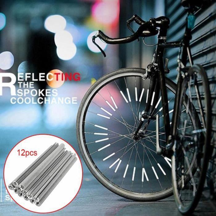 Pièce Détachée,Accessoires vélo roue de bicyclette a parlé réflecteur roue de bicyclette a parlé réflecteur 12 pièces pour vélo vtt