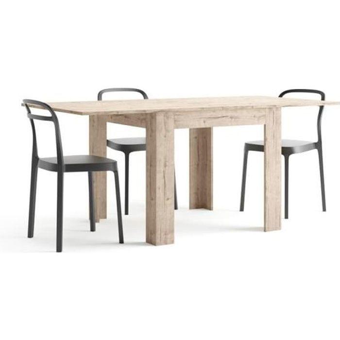 Mobili Fiver, Table carrée extensible, Eldorado, Chêne naturel , Mélaminé, Made in Italy