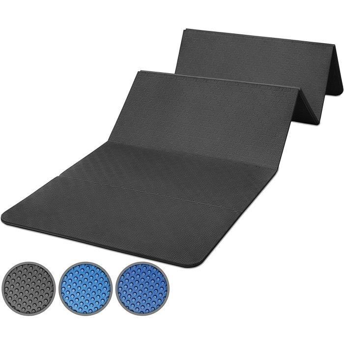 TAPIS DE YOGA Tapis de Gym Pliable 180 x 60 x 15 cm EacutePAIS et AntiDEacuteRAPANT Bleu ou Noir258