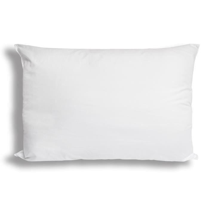 SOLEIL D'OCRE Oreiller CONFORT Anti-Acariens 30x50 cm blanc (Lot de 3)