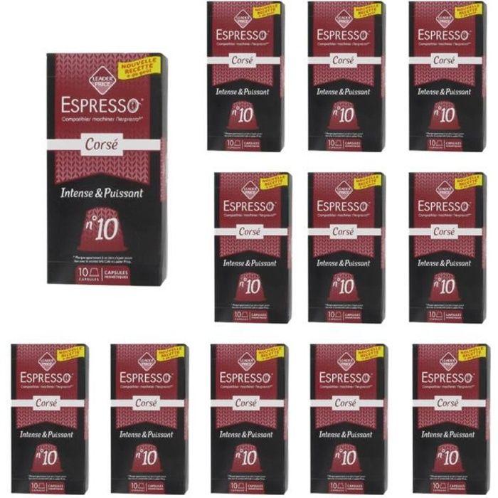 [Lot de 12] Café Espresso corsé compatible Nespresso - 50g par paquet