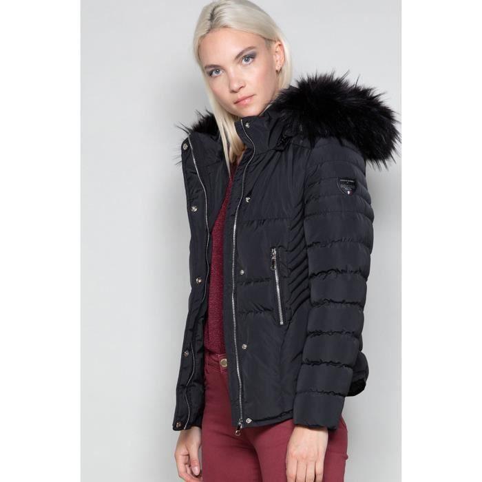 Doudoune à capuche LEONA - Couleur - Black, Taille - XL
