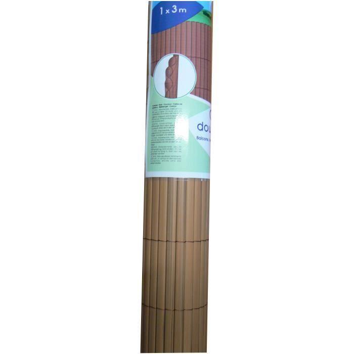 IDEAL GARDEN Canisse en PVC - Double Face 10 mm - 1 x 3 m - Ton Bois Foncé