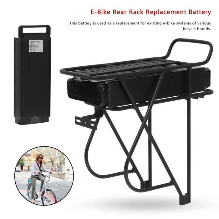 48V18a 1000W Kit de conversion Porte bagages arrière de Vélos Support Arrière avec Batterie de remplacement