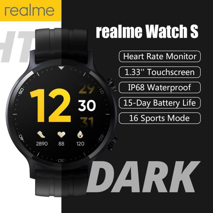 realme Watch S, Montre intelligente compatible avec Android 5.0+