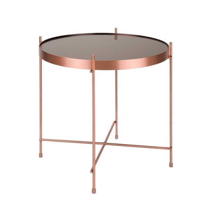 Table basse ronde Valdo cuivre S