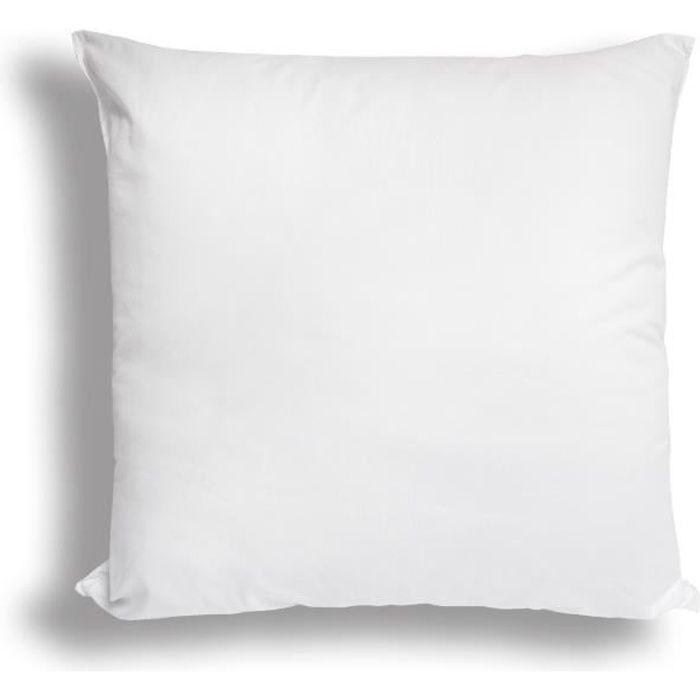 SOLEIL D'OCRE Oreiller confort anti-acarien - 40x40 cm - Blanc