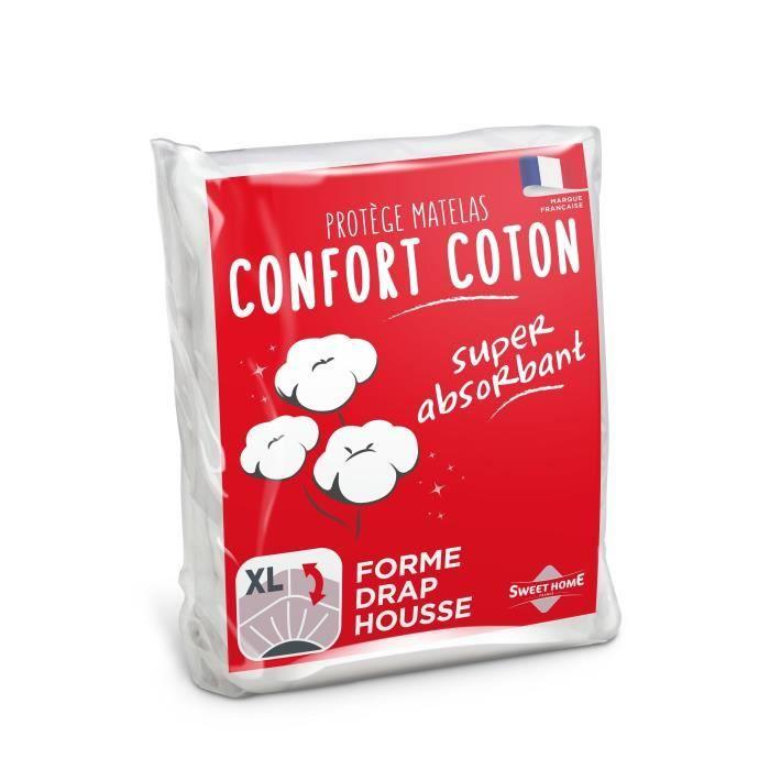 SWEETHOME Protège-matelas confort polycoton - 90x190 cm