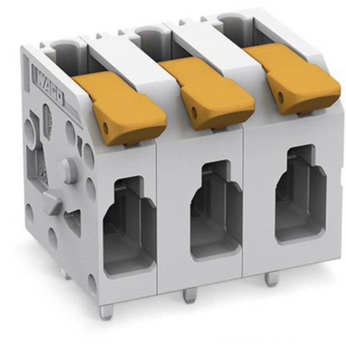 Borne pour circuits imprimés WAGO 2604-1303 4 mm² Nombre de pôles 3 1 pc(s) - CONNECTEUR SECTEUR