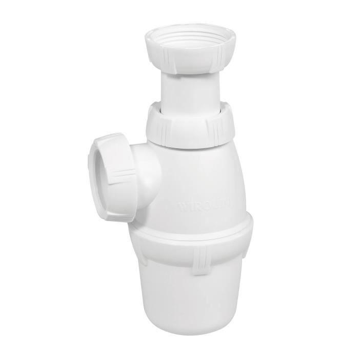 WIRQUIN Siphon de lavabo réglable SP3158 NF 1-¼ D32 mm