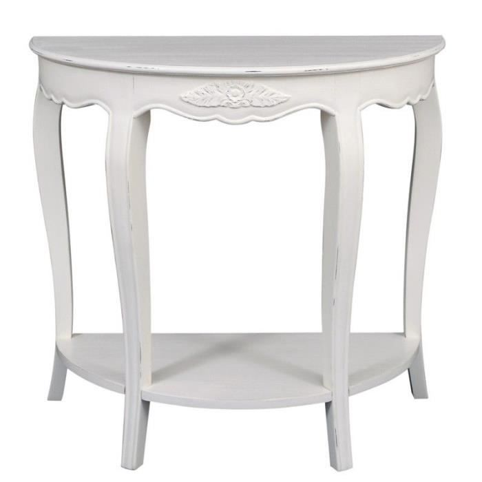 console demi lune blanche achat vente console console. Black Bedroom Furniture Sets. Home Design Ideas
