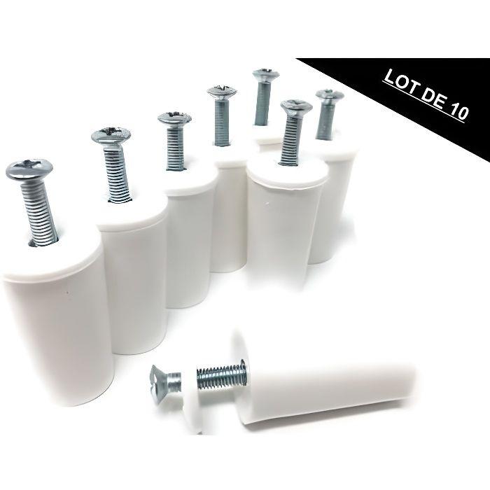Butée tampon pour volets roulants Gris set de 20 40mm avec vis et joint