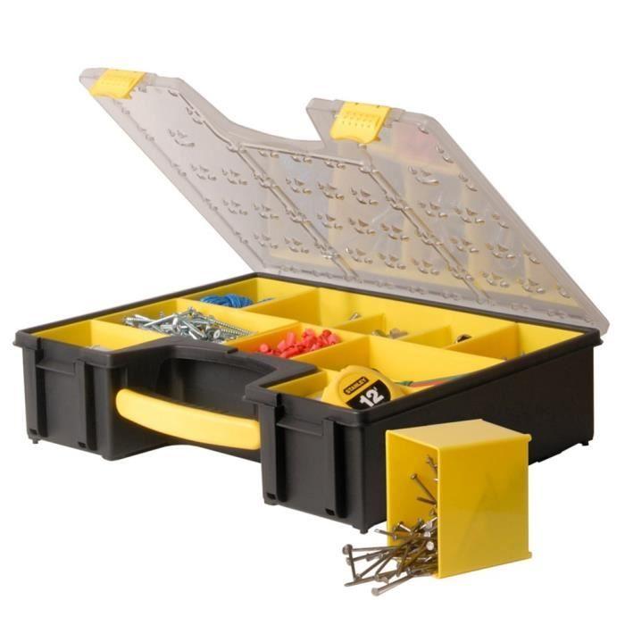 Empilable Outil Organisateur étui rangement boîte à outils bricolage vis boîtier en plastique Boîte Poignée