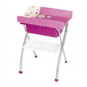 Table langer cabriole lindo rose achat vente table for Table a langer rose