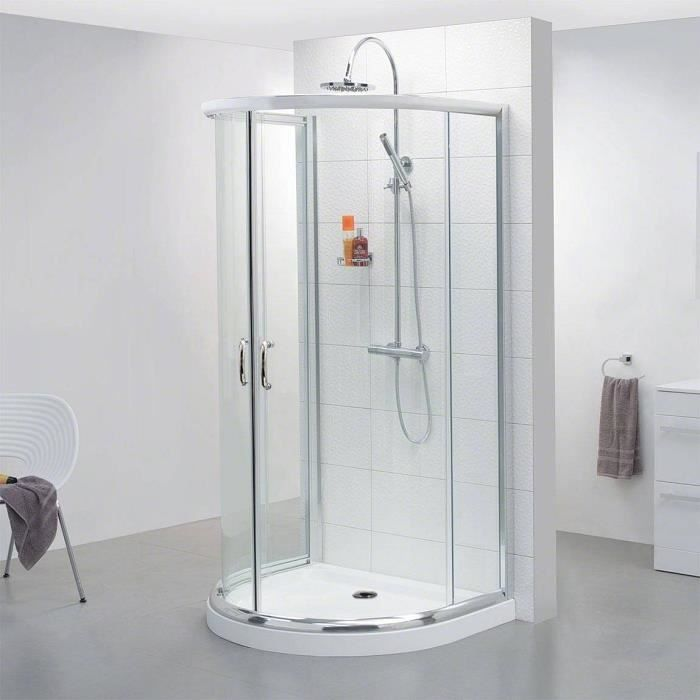 cabine de douche en verre transparent receveur achat vente cabine de douche cabine de douche. Black Bedroom Furniture Sets. Home Design Ideas