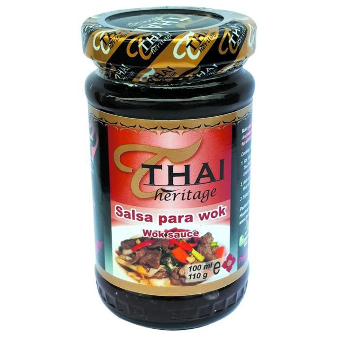 SAUCE EXOTIQUE - PIMENT Sauce Wok 110G THAI HERITAGE