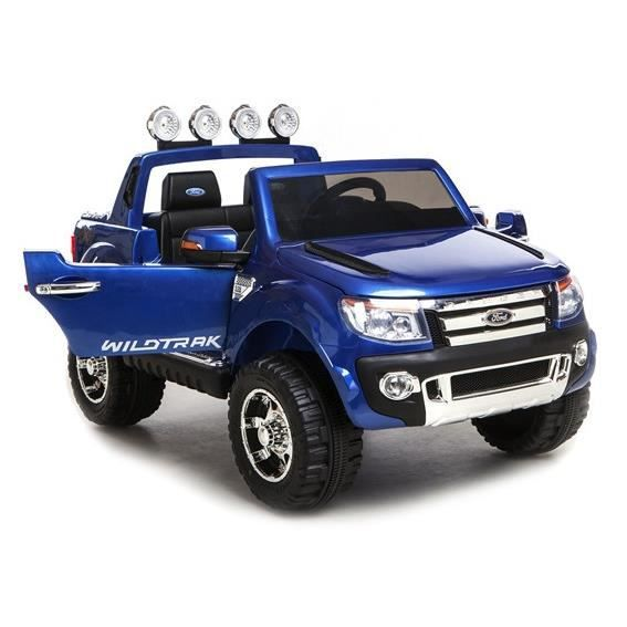 ford ranger bleu avec peinture m tallis e voiture lectrique pour enfant 2 places 12v 2. Black Bedroom Furniture Sets. Home Design Ideas