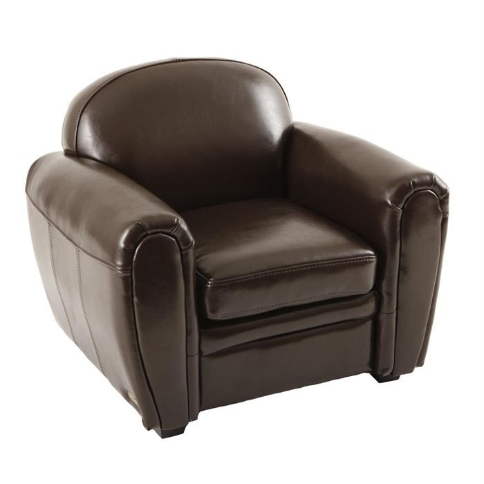 fauteuil club enfant en cuir marron baby club achat vente fauteuil cuir polyur thane. Black Bedroom Furniture Sets. Home Design Ideas