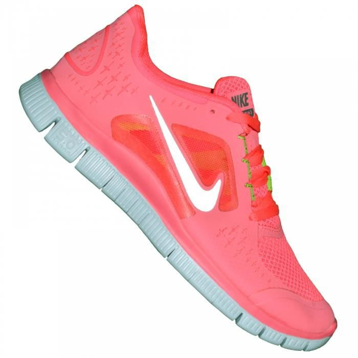 Nike - Basket Running - Femme - Free Run - Rose Fluo Rose ...