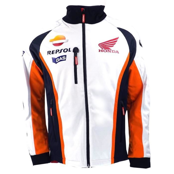veste de repsol honda moto gp team gaz soft shell officielle 2015 achat vente blouson. Black Bedroom Furniture Sets. Home Design Ideas