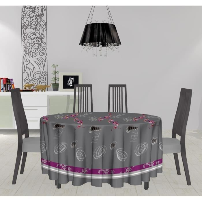 nappe toile cir e ronde 160 cm galet achat vente nappe de table cdiscount. Black Bedroom Furniture Sets. Home Design Ideas
