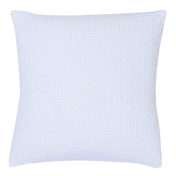 coussin nid d 39 abeille 45 x 45 cm ma a blanc achat. Black Bedroom Furniture Sets. Home Design Ideas